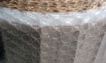 Mesh woven Paper Laminated Bubble Wrappings